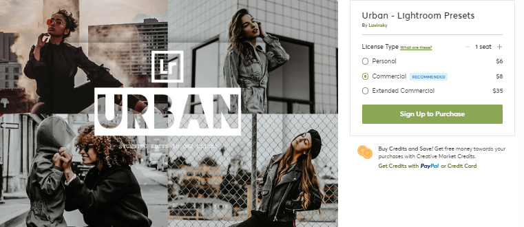 Urban - Lightroom Presets (2020) [Creativemarket]