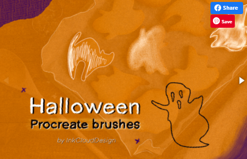 7 Halloween Procreate Brushset IPad (2020) [Creativefabrica]