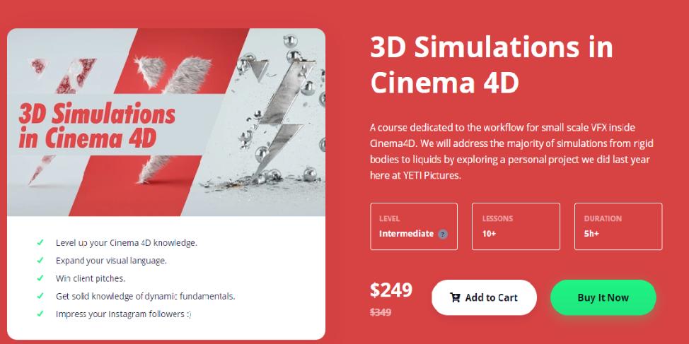 3D Simulations in Cinema 4D (2020) [Motion Design School]